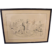 "Al Hirschfeld (American) ""Les Miserables"" Limited Edition Lithograph Print"