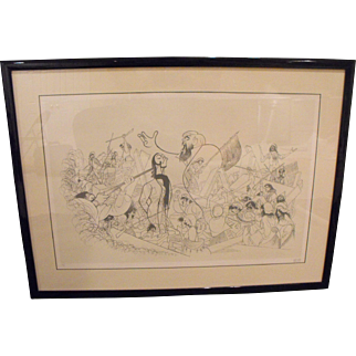 """Al Hirschfeld (American) """"Les Miserables"""" Limited Edition Lithograph Print"""
