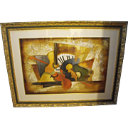 """Emanuel Mattini """"Orchestration"""" Serigraph Signed Limited Edition Musical Print"""