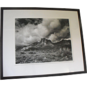 Jody Forster Black and White Photo Photograph Desert Storm Arizona Mountains