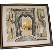 Cityscape Modernist Art Signed David Brownlow 1958 From Rubylane Sold On Ruby Lane