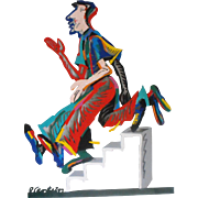 David Gerstein Man Descending the Staircase Limited Edition Steel Wall Sculpture