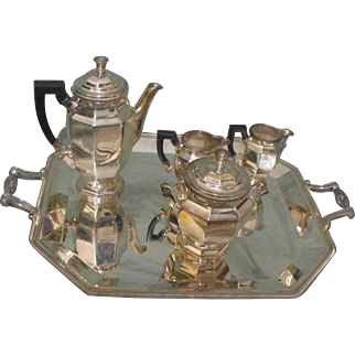 Christofle French Silverplate 5 Piece Tea Set