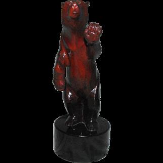 """Joshua Tobey Bronze Bear Sculpture """"Quandry"""""""