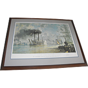 John Stobart New Orleans J.M. White Riverboat Limited Edition Lithograph Print