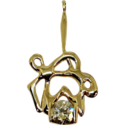 3.02ct Diamond Free-Form Pendant