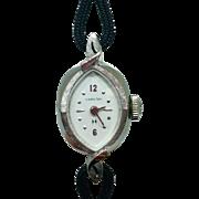 14K White Gold Ladies Hamilton Wristwatch