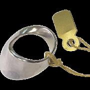 Georg Jensen Sterling Silver Modernist Ring by Vivianna Torun Size 5.5 US