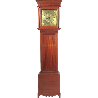 Antique long case grandfather clock Thomas Wentworth Sarum 18th c English