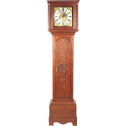 Antique long case clock William Cockey Yeovil 8 day English oak 18th century
