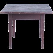 Antique primitive table country Hepplewhite brown paint rustic 19th c farmhouse