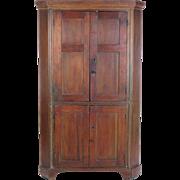 Antique corner cupboard cabinet blind door primitive wooden rustic shabby 19th c