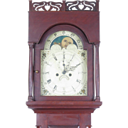 Antique American tall case clock, New England, 19th century