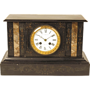 Japy Freres antique French mantel clock retailed by Lee Worms