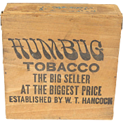 Vintage Humbug Tobacco box, W T Hancock, R J Reynolds, North Carolina