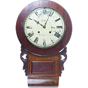 Antique English wall clock by Francis Eaves, 1 Lancaster St., Birmingham, c. 1870