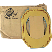 Knox Hat A Way vintage storage holder wall hanging closet folding gentleman De Luxe
