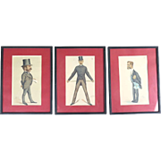 Vanity Fair prints Spy Ape Dyke Temple Cunard 1875-1881 antique 3 caricatures