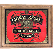 Chivas Regal Blended Scotch Whisky bar sign wall hanging red black man cave