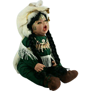 Native American Indian Porcelain Doll