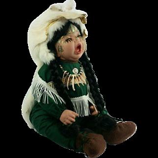 Native American Indian Porcelain Doll