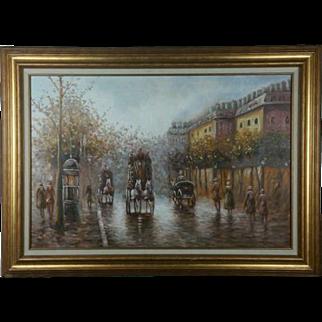 Signed Johnny Gaston French Quarter Street Scene Oil Painting