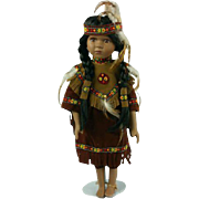 Native American Indian Porcelain Pocahontas Doll