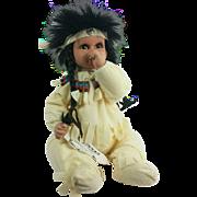 Native American Handmade Porcelain Doll