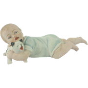 Gebruder Heubach Porcelain Piano Baby with Dog