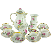 Meissen Rose Demitasse Coffee Set 16 piece