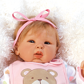 "Paradise Galleries  Lifelike Realistic Soft Vinyl 19 inch Baby Girl Doll Gift ""Happy Teddy"" Great to Reborn"