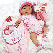 """Paradise Galleries  Lifelike Realistic Soft Vinyl 19 inch Baby Girl Doll Gift """"Tall Dreams Ensemble"""" Great to Reborn"""