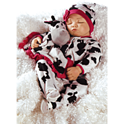 "Paradise Galleries  Lifelike Realistic Soft Vinyl 19 inch Baby Girl Doll Gift ""Over The Moooon"" Great to Reborn"