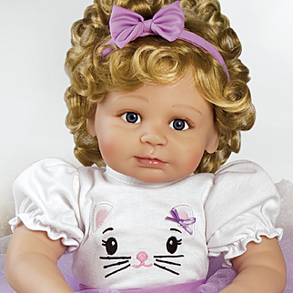 "Paradise Galleries  Lifelike Realistic Soft Vinyl 22 inch Toddler Girl Doll Gift ""Miss Kitty Kate"" Great to Reborn"