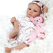 "Paradise Galleries  Lifelike Realistic Soft Vinyl 20 inch Baby Girl Doll Gift ""Bundle of Joy"" Great to Reborn"