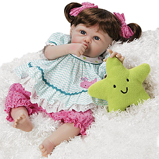 "Paradise Galleries  Lifelike Realistic Soft Vinyl 20 inch Baby Girl Doll Gift ""Star Kissed"" Great to Reborn"