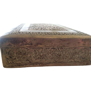 Vintage Silver Hallmarked 900 Cigarette Box lined with Mahogany Veneer