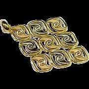 18K Yellow Gold Marked 750 Milor Italy Pendant