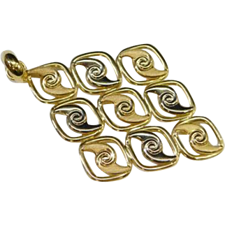 18K Yellow Gold Marked 750 Milor Italy Pendant