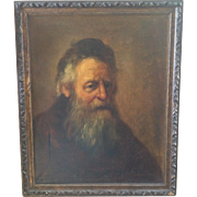 Antique oil on canvas portrait of bearded man.  Signed and Framed.