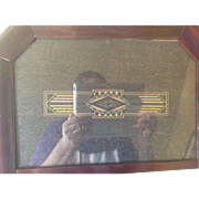 Art Deco Painted Transom Mirror