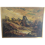 Signed Naomi Duckman Lorne Oil on Board Abstract Landscape