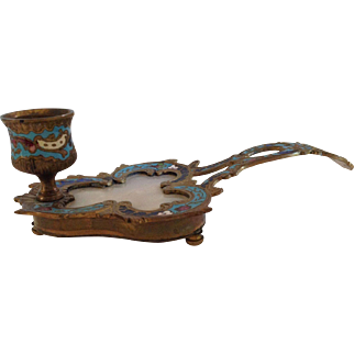 Early 20th Century Export Chinese Cloisonne Candle Holder.