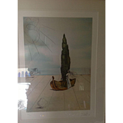 Large Signed Original Limited Edition Lithograph by Salvador Dali.