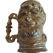 19th Century Bronze Cast Head Mug.