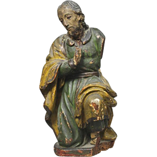 Seventeenth-Century Wood Polychromed Sculpture of Christ with Provenance