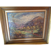 Pennsylvania Impressionistic Impasto Landscape Painting by H.C. Beaver
