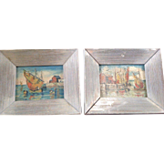 Pair of Oil on Canvas Landscapes by H. Harvey