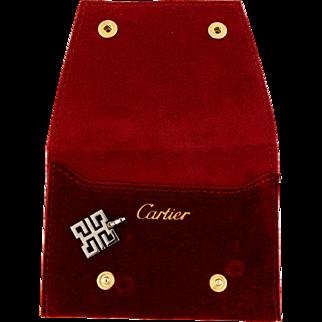 Authentic Cartier 18k 18 Karat White Gold 750 Le Baiser du Dragon Necklace Pendant Kiss Of The Dragon
