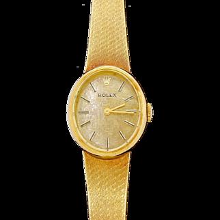 Vintage Rolex Women's / Ladies 14k Yellow Gold Dress Watch Ref. 8369